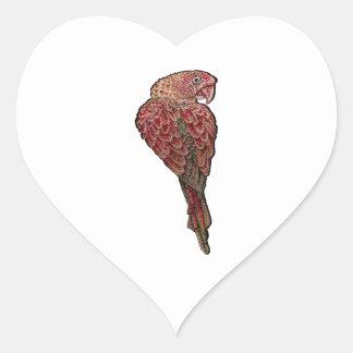 Red Scarlet Heart Sticker