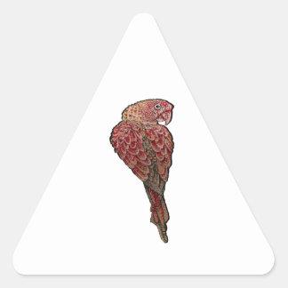 Red Scarlet Triangle Sticker