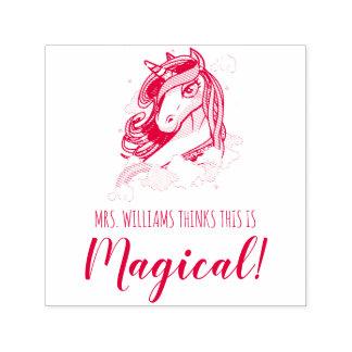 Red School Teacher's Magical Unicorn Self-inking Stamp