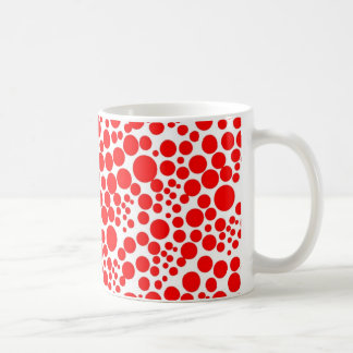 red scores pünktchen polka circles dabs snow coffee mug