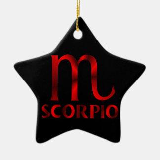 Red Scorpio Horoscope Symbol Ceramic Star Decoration