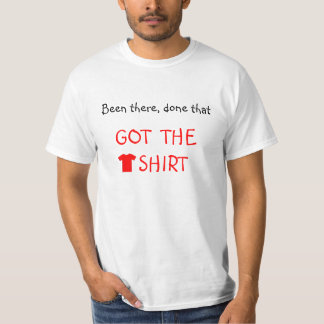 Red script got the tshirt funny