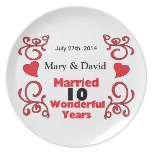 10th Wedding Anniversary Gifts Zazzle Com Au
