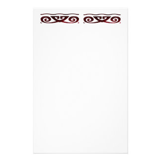 Red Scroll Stationery