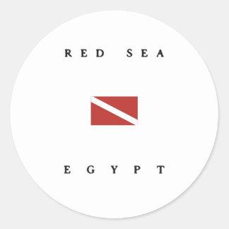 Red Sea Egypt Scuba Dive Flag Classic Round Sticker