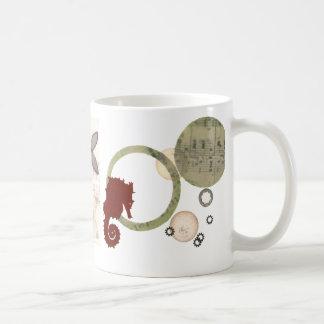 red seahorse cup mug