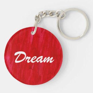 Red Seamless Background Abstract And Watercolor Double-Sided Round Acrylic Keychain