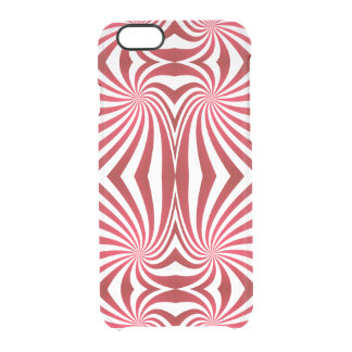 Red seamless swirl pattern clear iPhone 6/6S case