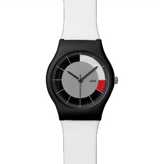 RED SEGMENT  | minimalist circle with HR markers Watch