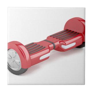 Red self-balancing scooter ceramic tile