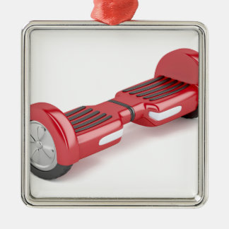 Red self-balancing scooter metal ornament