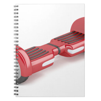Red self-balancing scooter notebooks