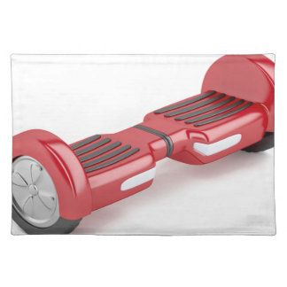 Red self-balancing scooter placemat