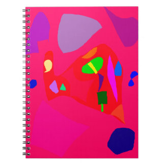 Red Sensation No Material Soul Engaging Spiral Note Book