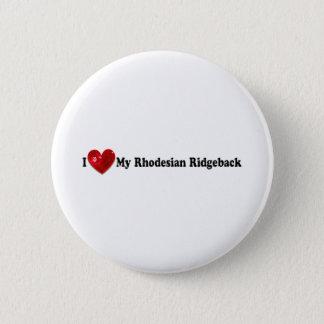 Red Sequin Image Rhodesian Ridgeback Dog 6 Cm Round Badge