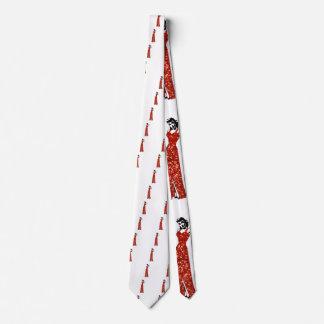 red sequin vintage pin up tie