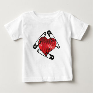 red sequins safety pin baby T-Shirt
