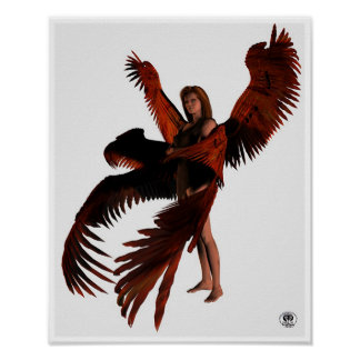 Red Seraph Poster - Small plain.
