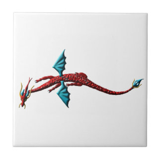 Red Serpent Dragon Tile