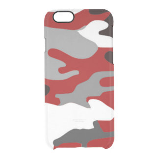 Red Shadows Camo Clear iPhone 6/6S Case