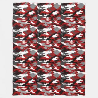 Red Shadows Camo Fleece Blanket