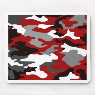 Red Shadows Camo Mouse Pad