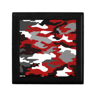 Red Shadows Camo Small Square Gift Box