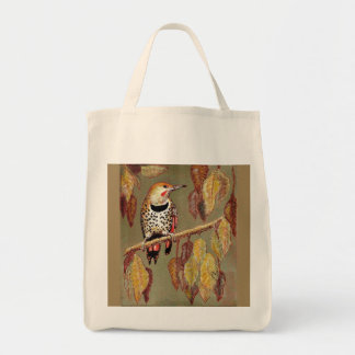 Red-Shafted Flicker in Fall Tote Bag