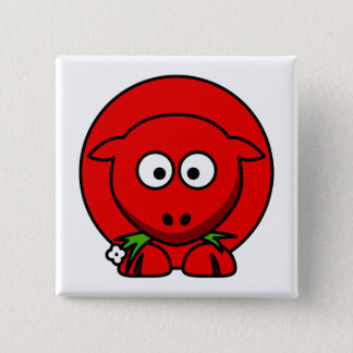 Red Sheep 15 Cm Square Badge