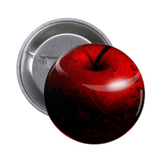 Red Shiny Apple -  Forbidden Fruit 6 Cm Round Badge