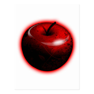 Red Shiny Apple -  Forbidden Fruit Postcard