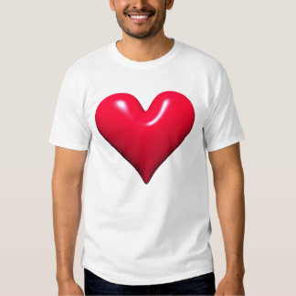 Red Shiny Heart T-Shirt