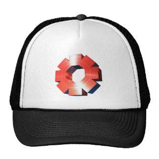 Red Shiny Wheel Mesh Hat