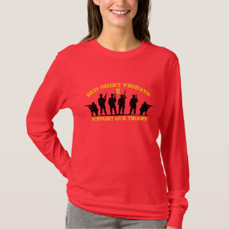 Red Shirt Fridays Support Our Troops Long Sleeve