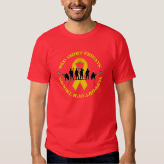 Red Shirt Fridays Support Our Troops Ribbon TShirt