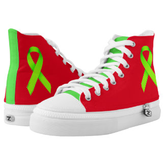 Red Shoe Day Hightops for Lyme Disease Awareness