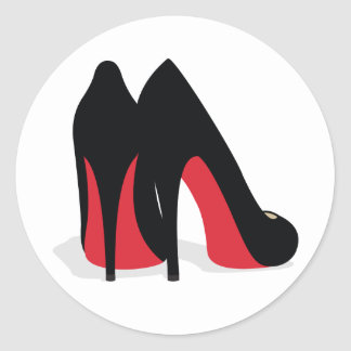 Red Shoe Stickers/Seals Classic Round Sticker