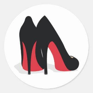Red Shoe Stickers/Seals Round Sticker