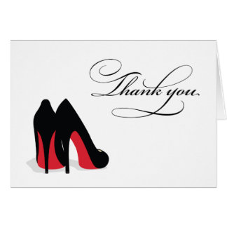 Red Shoe Thank You Note Card