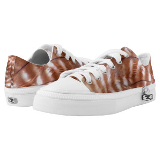 Red Shouldered Hawk Feather Low Tops Printed Shoes