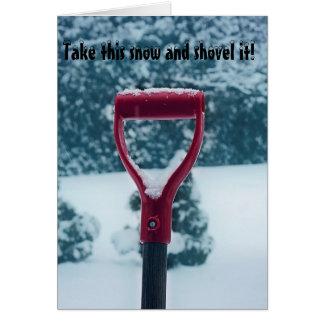 Red Shovel blank card
