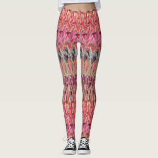 Red Shred Switchback leggings