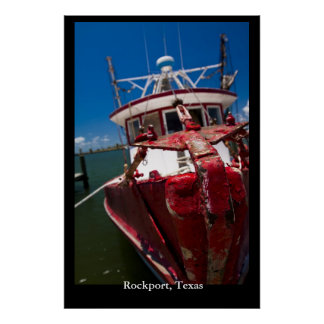 Red Shrimp Boat Poster
