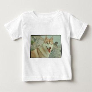 Red Siberian Husky Baby T-Shirt