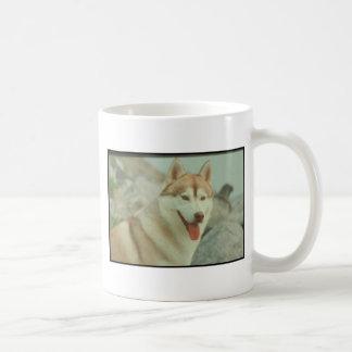 Red Siberian Husky Coffee Mug