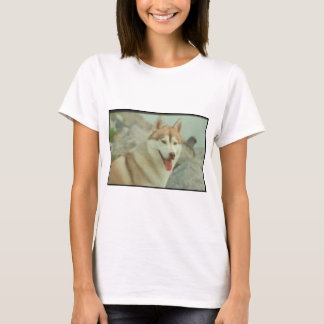 Red Siberian Husky T-Shirt