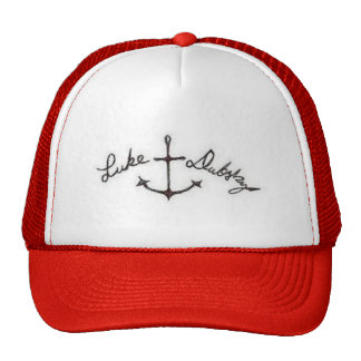 Red signature anchor hat