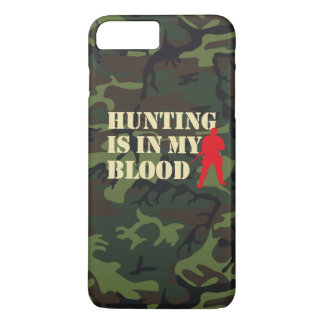 Red silhouette of hunter: Hunting is in my blood, iPhone 7 Plus Case