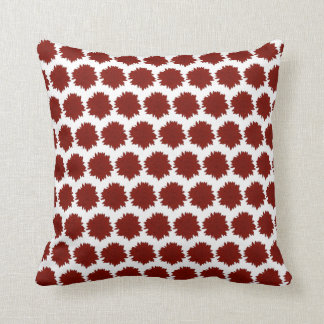Red Silhouette Sunflower Motif Cushion