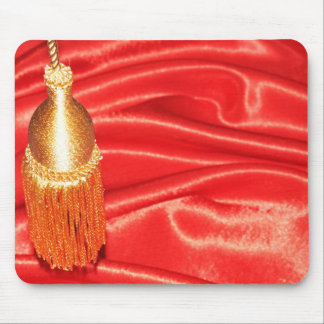 Red silk background mouse pad